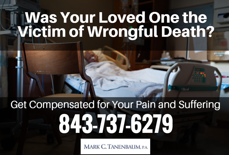 Was Your Loved one the|Victim of Wrongful Death?|Get Compensation for your Pain and Suffering|843 737 6279|Mark C.Tanenbaum.P.A